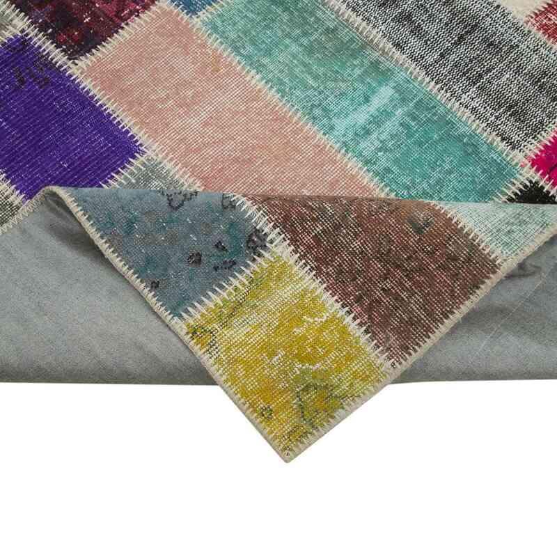 Çok Renkli Boyalı Patchwork Halı - 210 cm x 316 cm - 210 cm x 316 cm - K0051216