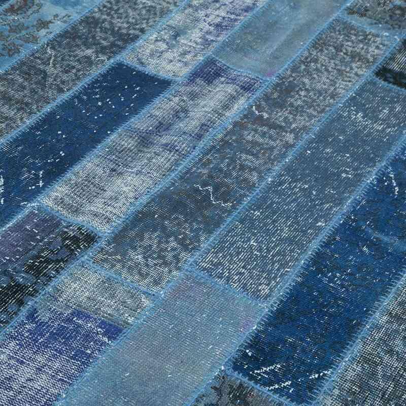 Lacivert Boyalı Patchwork Halı - K0051259