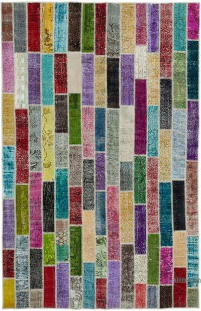 Çok Renkli Boyalı Patchwork Halı - 200 cm x 311 cm - 200 cm x 311 cm
