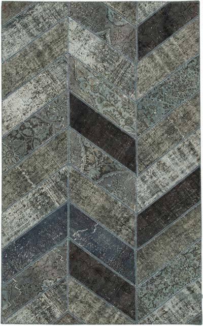Alfombra De Retazos Turca Sobre-teñida - 153 cm x 246 cm