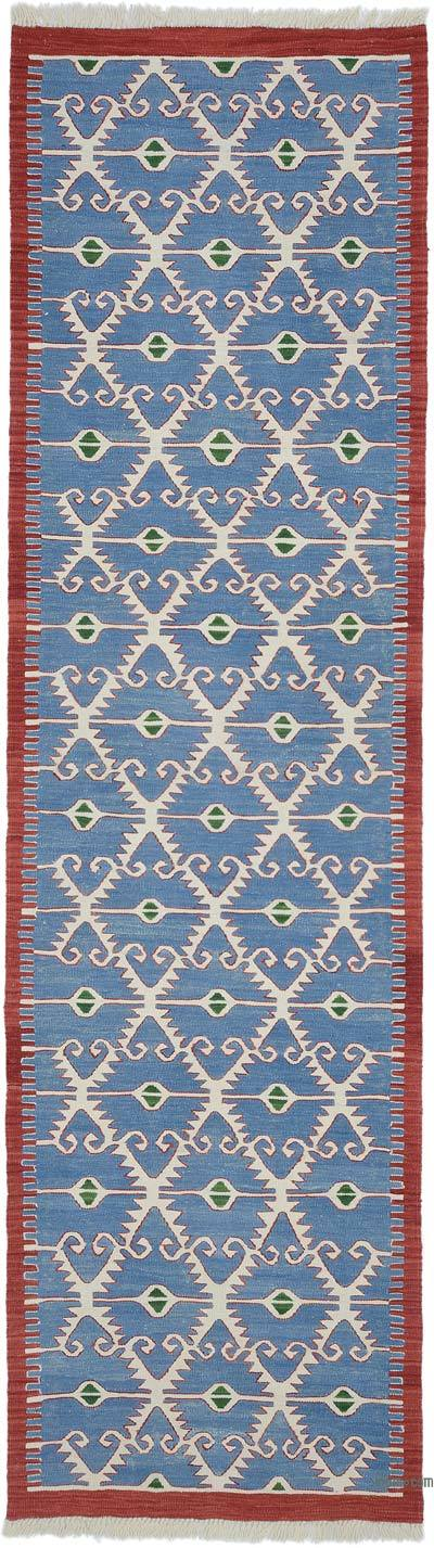 "New Handwoven Turkish Kilim Runner - 3' 1"" x 11' 2"" (37 in. x 134 in.)"
