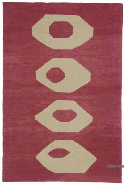 "New Handwoven Turkish Kilim Rug - 4' 6"" x 6' 8"" (54 in. x 80 in.)"