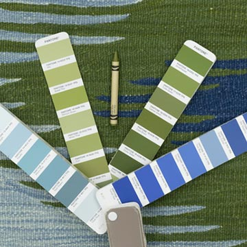 Blue, Green New Handwoven Turkish Kilim Rug - K0051354