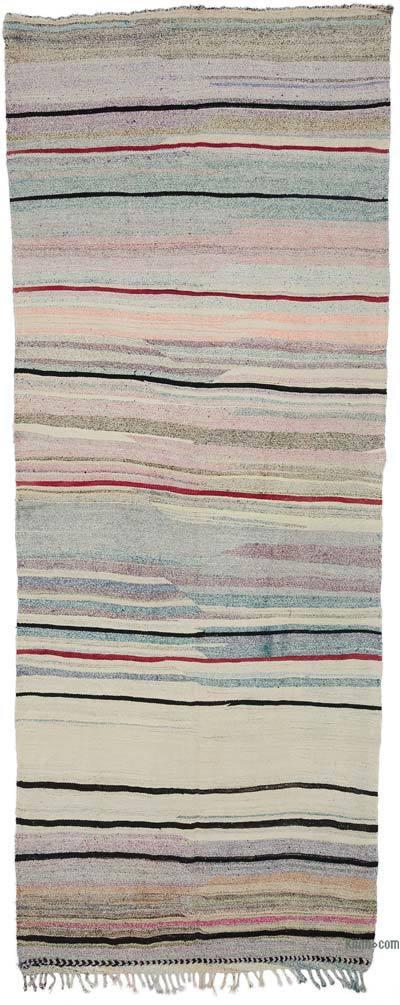 """Multicolor Vintage Turkish Kilim Rug - 5' 3"""" x 10'  (63 in. x 120 in.)"""