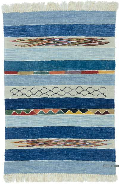 "New Handwoven Turkish Kilim Rug - 2' 1"" x 3'  (25 in. x 36 in.)"