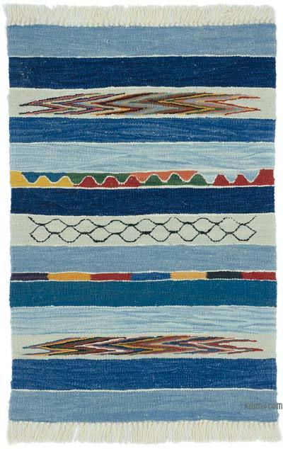 "New Handwoven Turkish Kilim Rug - 2'  x 2' 11"" (24 in. x 35 in.)"