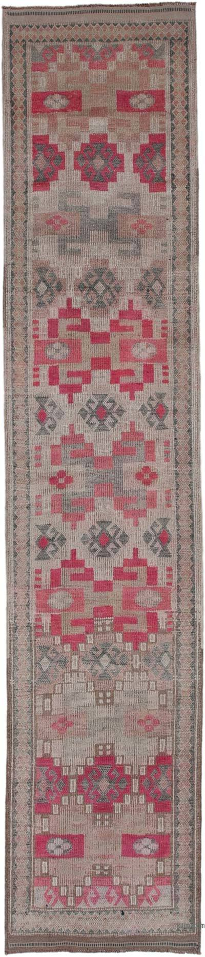 "Vintage Turkish Runner Rug - 2' 11"" x 14' 2"" (35 in. x 170 in.)"