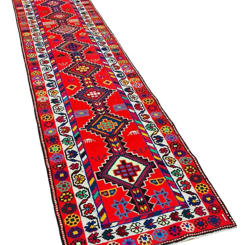 "Vintage Turkish Runner Rug - 2' 9"" x 12' 8"" (33 in. x 152 in.) - K0051427"