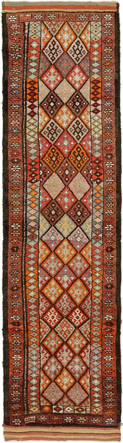 "Vintage Turkish Runner Rug - 2' 9"" x 10' 4"" (33 in. x 124 in.)"