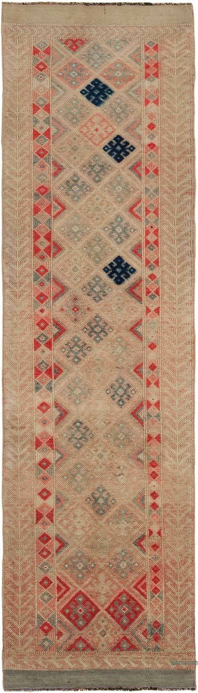 "Vintage Turkish Runner Rug - 2' 9"" x 9' 11"" (33 in. x 119 in.)"