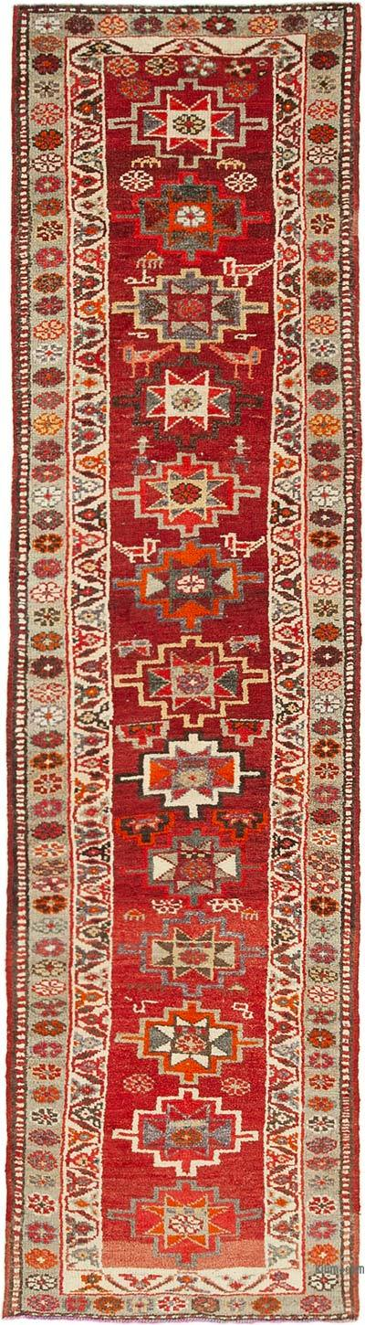 "Vintage Turkish Runner Rug - 2' 10"" x 10' 10"" (34 in. x 130 in.)"