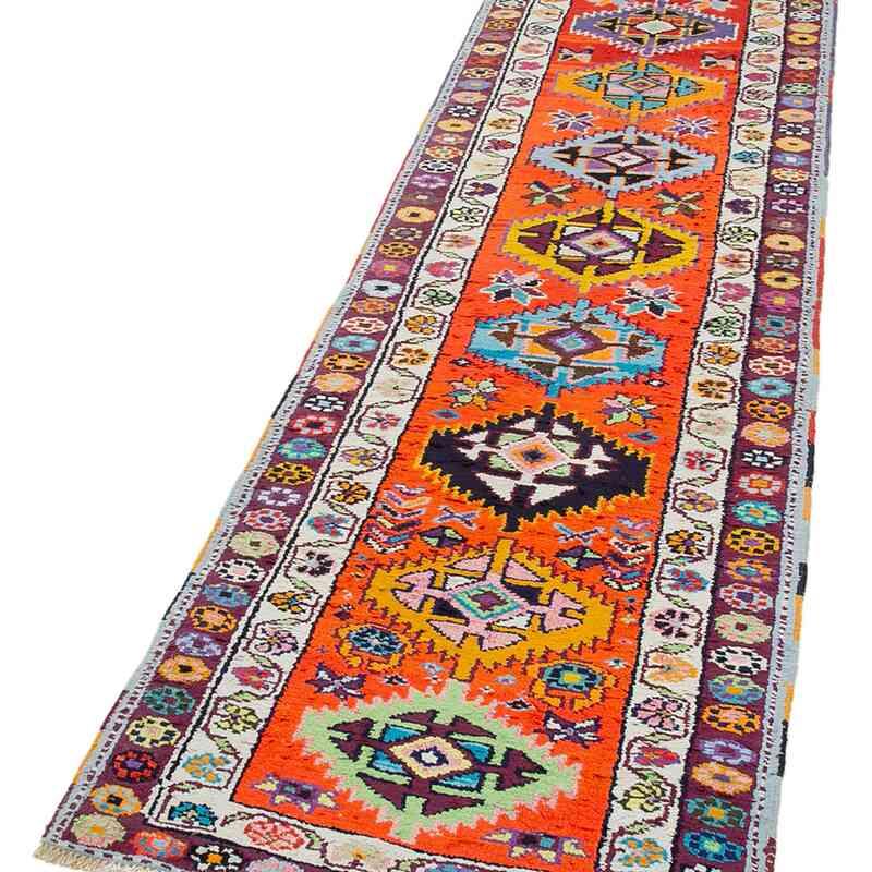 "Vintage Turkish Runner Rug - 2' 8"" x 10' 11"" (32 in. x 131 in.) - K0051469"