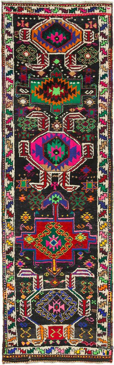 "Vintage Turkish Runner Rug - 2' 11"" x 9' 6"" (35 in. x 114 in.)"