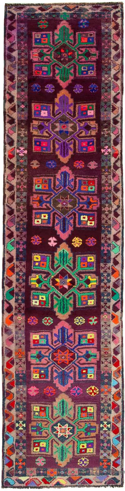 "Vintage Turkish Runner Rug - 3' 3"" x 12' 8"" (39 in. x 152 in.)"