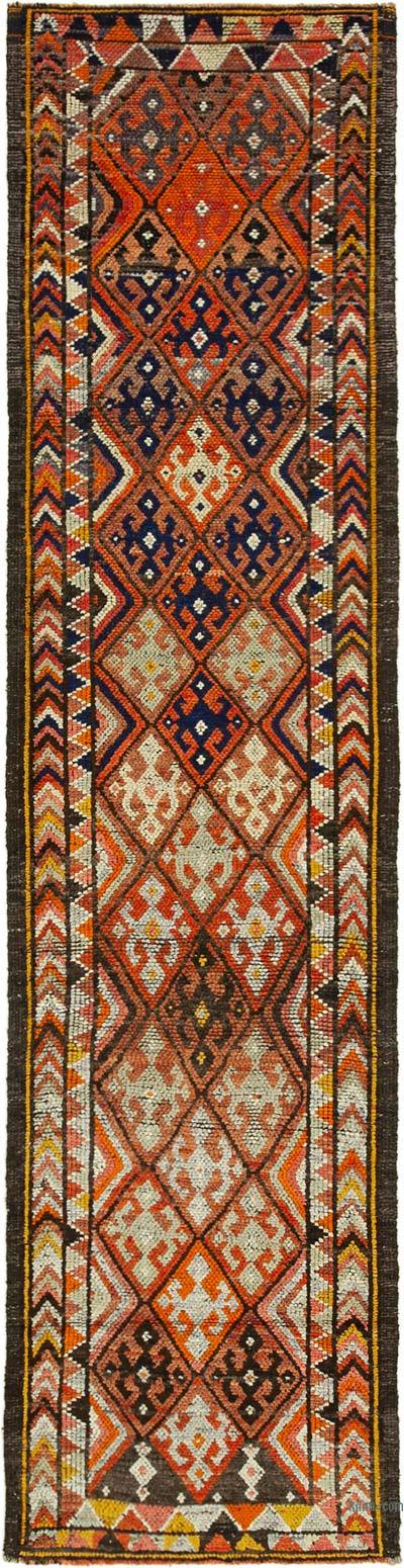"Vintage Turkish Runner Rug - 2' 9"" x 12' 6"" (33 in. x 150 in.)"