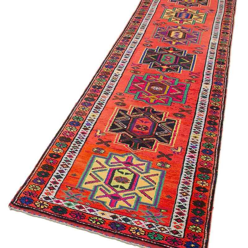 "Vintage Turkish Runner Rug - 2' 10"" x 12' 2"" (34 in. x 146 in.) - K0051499"