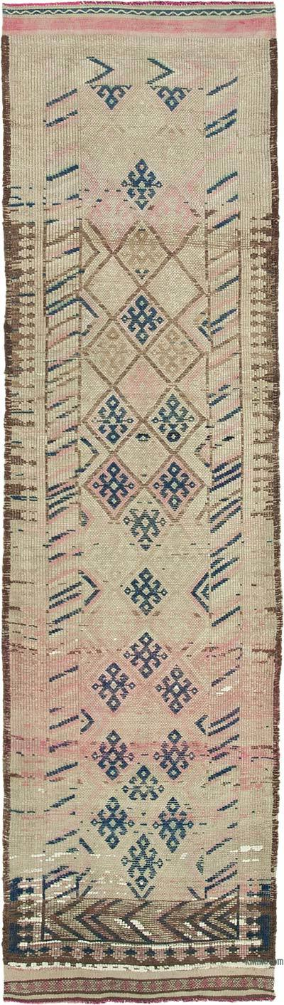 "Vintage Turkish Runner Rug - 2' 11"" x 10' 7"" (35 in. x 127 in.)"