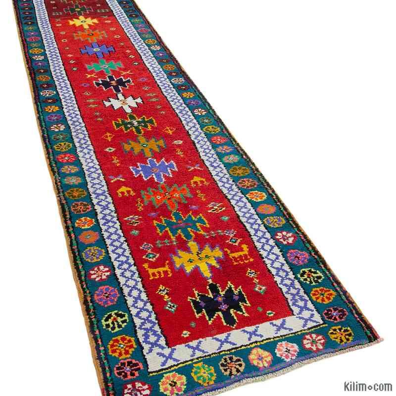 "Vintage Turkish Runner Rug - 2' 11"" x 12' 2"" (35 in. x 146 in.) - K0051501"