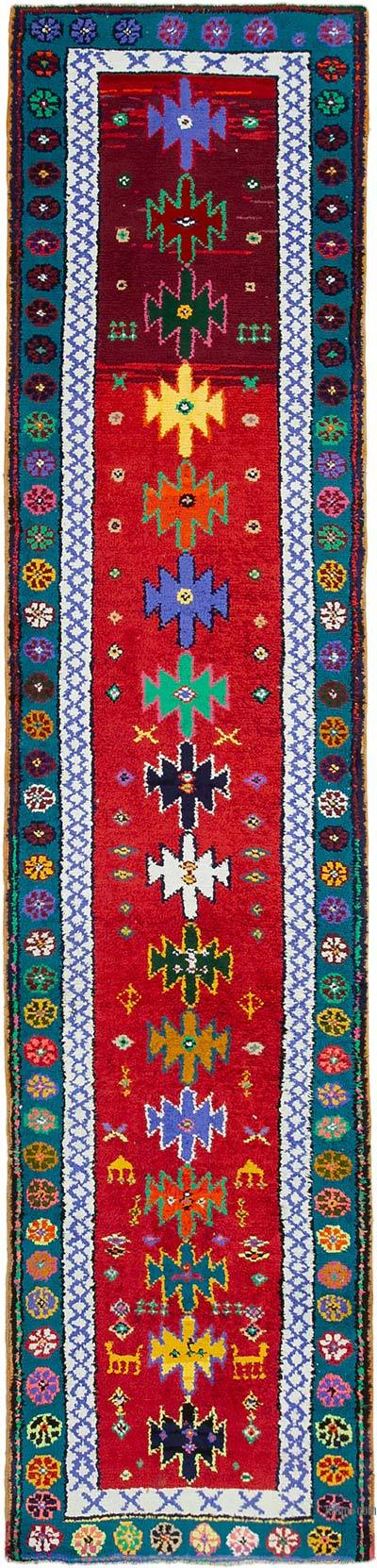 "Vintage Turkish Runner Rug - 2' 11"" x 12' 2"" (35 in. x 146 in.)"