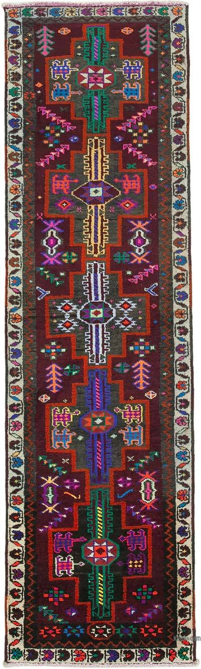 "Vintage Turkish Runner Rug - 2' 11"" x 10' 3"" (35 in. x 123 in.)"