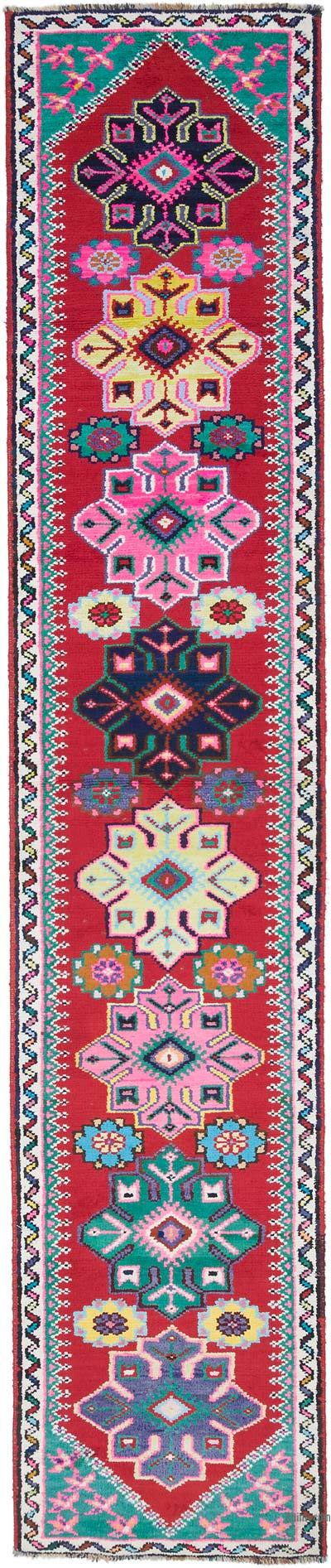"Vintage Turkish Runner Rug - 2' 11"" x 10' 11"" (35 in. x 131 in.)"
