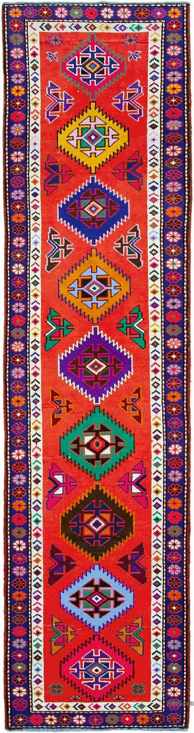 "Vintage Turkish Runner Rug - 2' 8"" x 11'  (32 in. x 132 in.)"