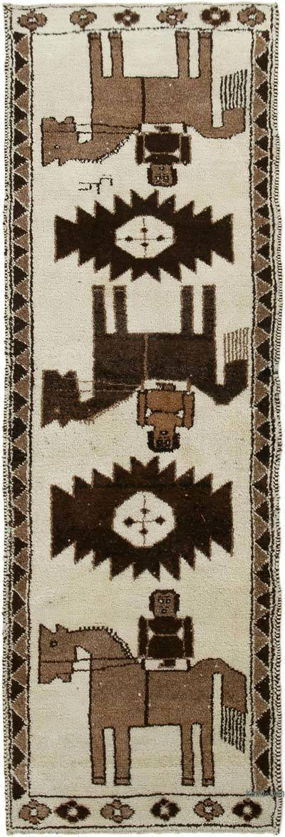 "Vintage Turkish Runner Rug - 3' 5"" x 10' 2"" (41 in. x 122 in.)"