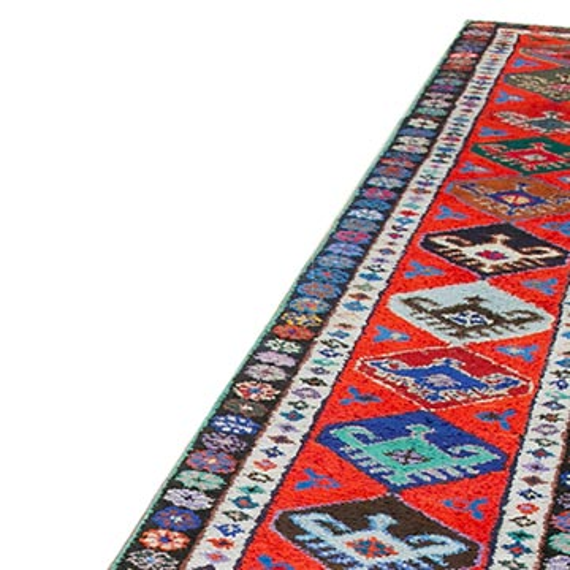 "Vintage Turkish Runner Rug - 2' 7"" x 13'  (31 in. x 156 in.) - K0051519"