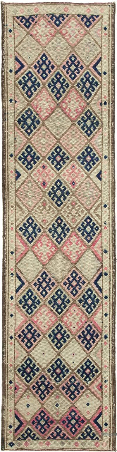 "Vintage Turkish Runner Rug - 2' 11"" x 11' 7"" (35 in. x 139 in.)"