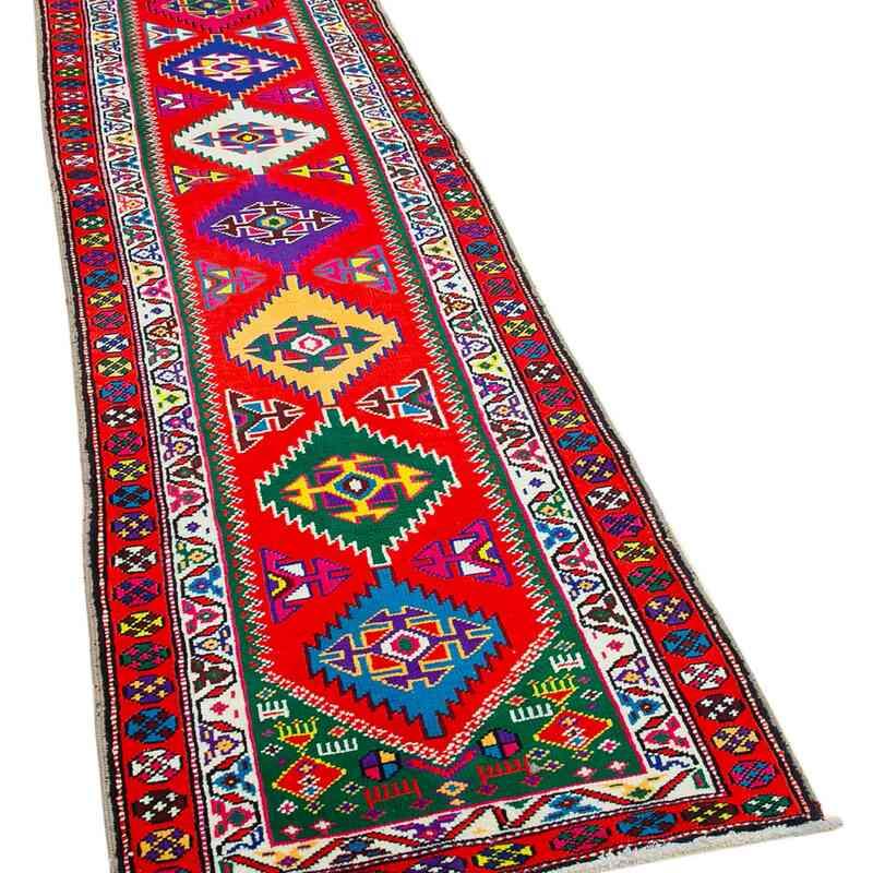 "Vintage Turkish Runner Rug - 2' 7"" x 10' 3"" (31 in. x 123 in.) - K0051523"