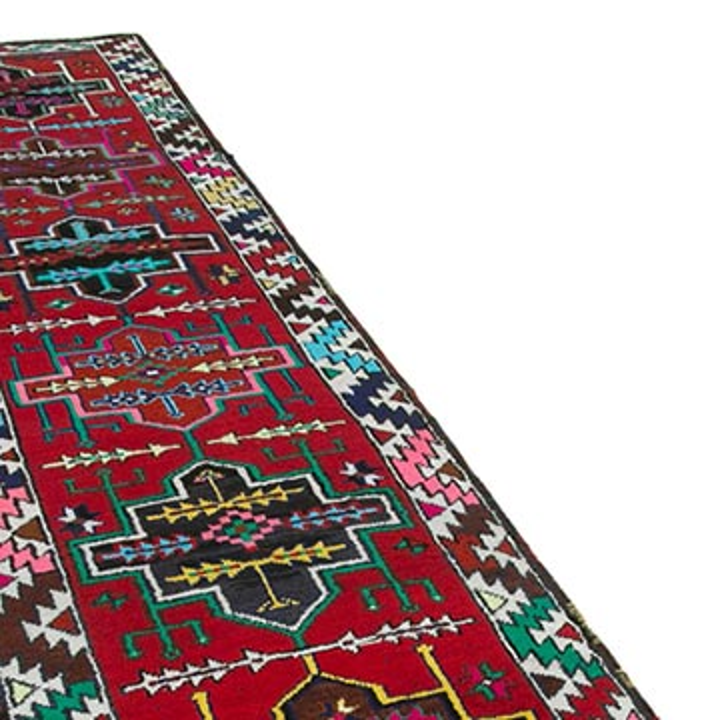 "Vintage Turkish Runner Rug - 2' 11"" x 11'  (35 in. x 132 in.) - K0051531"