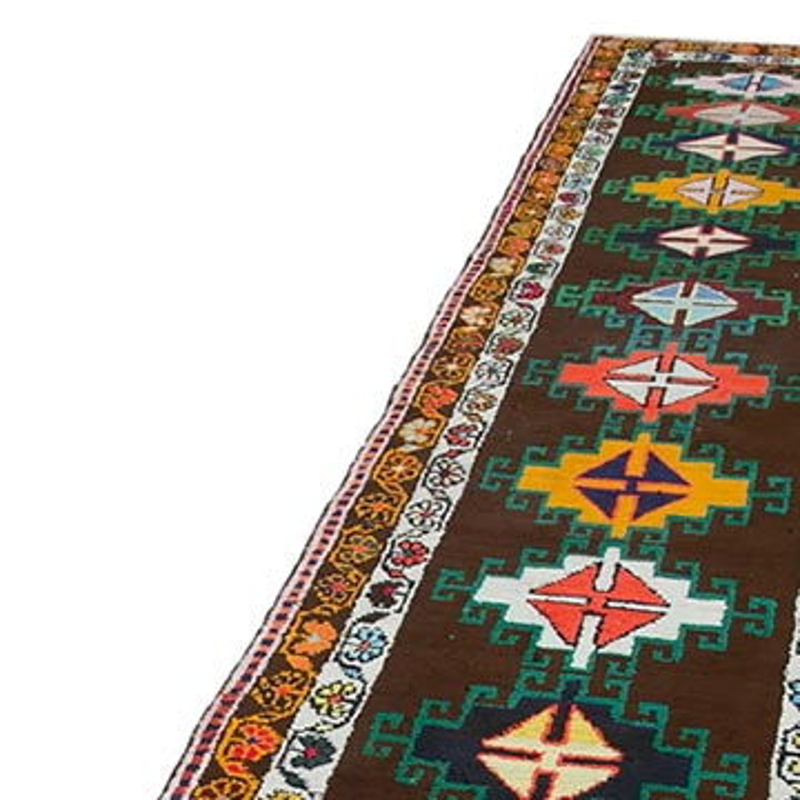 "Vintage Turkish Runner Rug - 2' 9"" x 13' 5"" (33 in. x 161 in.) - K0051540"