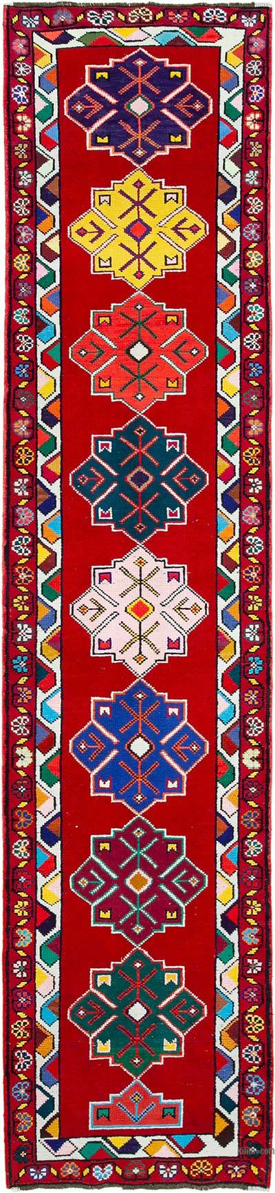 "Vintage Turkish Runner Rug - 2' 9"" x 12' 2"" (33 in. x 146 in.)"