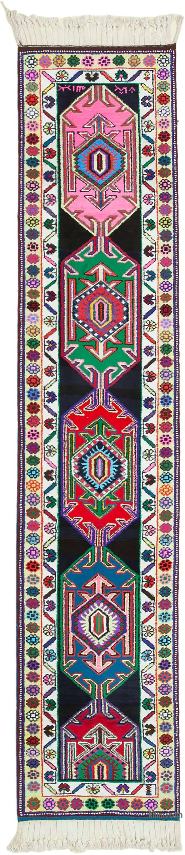 "Vintage Turkish Runner Rug - 2' 9"" x 13' 1"" (33 in. x 157 in.) - K0051553"
