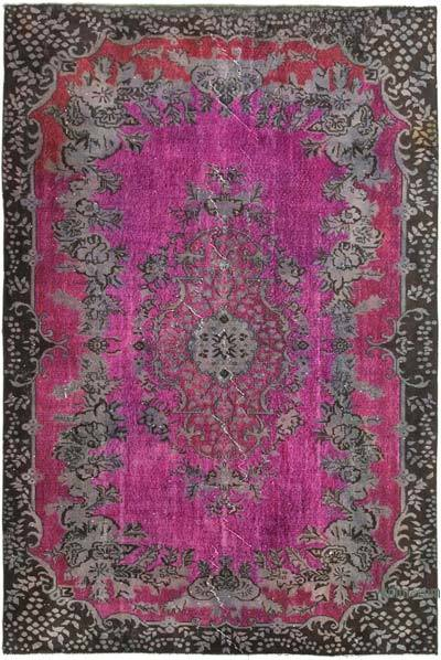 "Hand Carved Over-Dyed Rug - 6' 6"" x 9' 6"" (78 in. x 114 in.)"