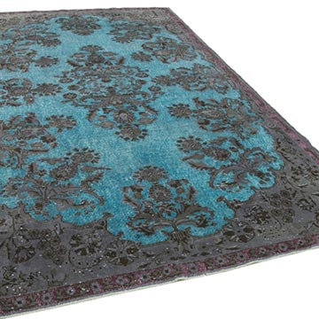 Hand Carved Over-Dyed Rug - 6' 7# x 10' 6# (79 in. x 126 in.) - K0051559