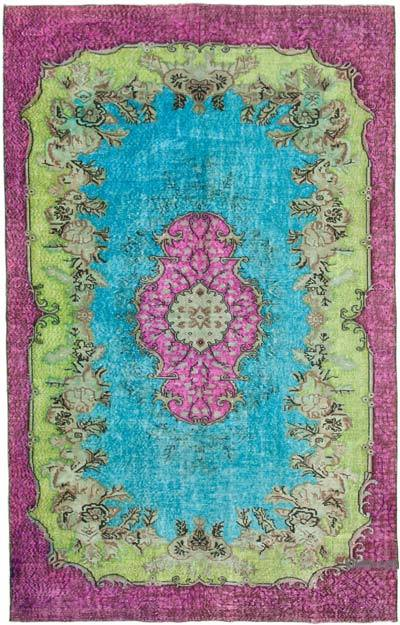 """Hand Carved Over-Dyed Rug - 6' 6"""" x 10' 4"""" (78 in. x 124 in.)"""