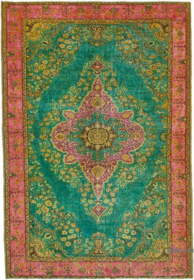 """Hand Carved Over-Dyed Rug - 6' 11"""" x 10'  (83 in. x 120 in.)"""