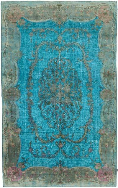 """Hand Carved Over-Dyed Rug - 6' 6"""" x 10' 3"""" (78 in. x 123 in.)"""