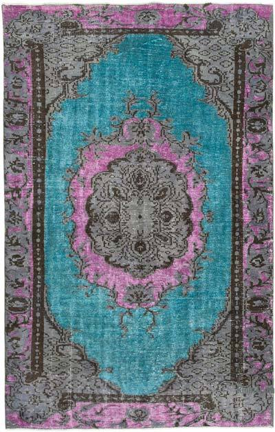 """Hand Carved Over-Dyed Rug - 5'  x 7' 9"""" (60 in. x 93 in.)"""