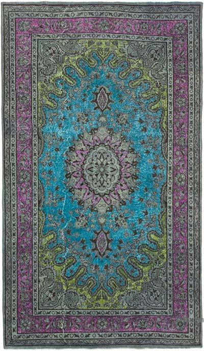 """Hand Carved Over-Dyed Rug - 5' 8"""" x 9' 9"""" (68 in. x 117 in.)"""