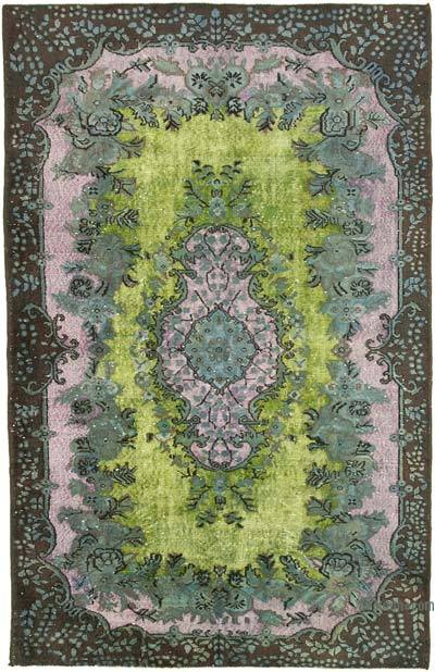 """Hand Carved Over-Dyed Rug - 5' 8"""" x 8' 10"""" (68 in. x 106 in.)"""