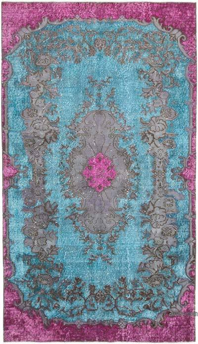 """Hand Carved Over-Dyed Rug - 4' 11"""" x 8' 8"""" (59 in. x 104 in.)"""