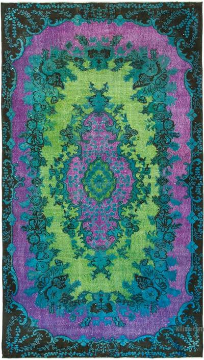 """Hand Carved Over-Dyed Rug - 5' 6"""" x 9' 8"""" (66 in. x 116 in.)"""