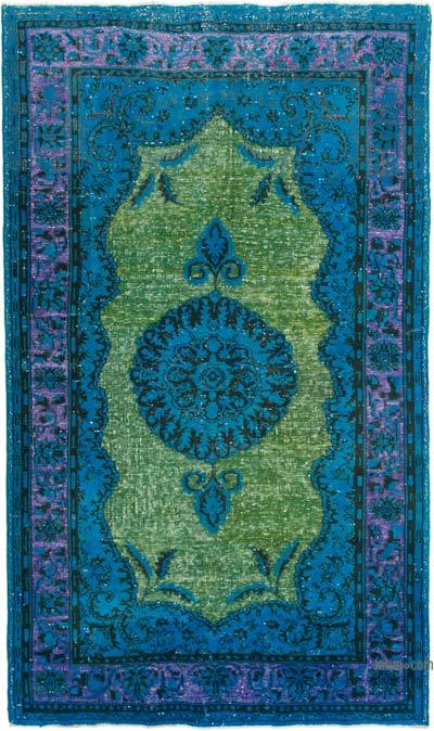 """Hand Carved Over-Dyed Rug - 6' 2"""" x 10' 6"""" (74 in. x 126 in.)"""