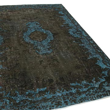 """Brown Hand Carved Over-Dyed Rug - 5' 8"""" x 8' 11"""" (68 in. x 107 in.) - K0051600"""