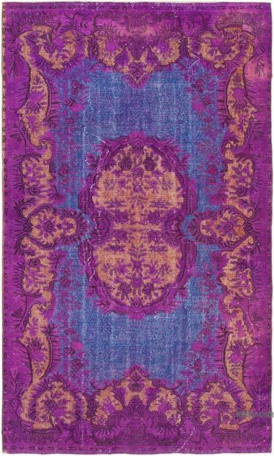"""Hand Carved Over-Dyed Rug - 5' 7"""" x 9' 5"""" (67 in. x 113 in.)"""