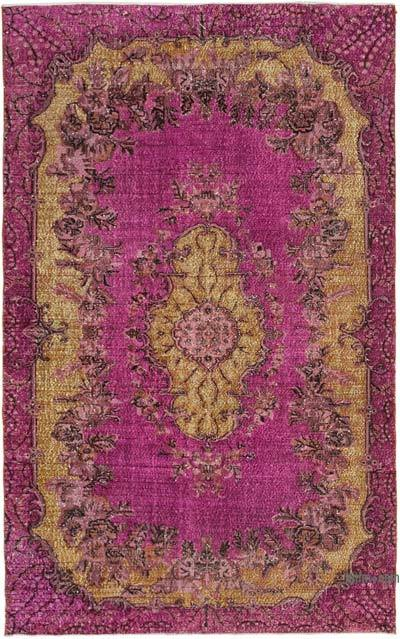 """Hand Carved Over-Dyed Rug - 6' 7"""" x 10' 7"""" (79 in. x 127 in.)"""