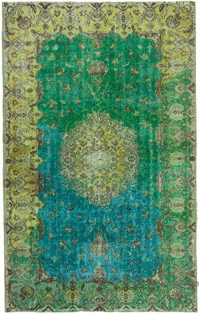 """Hand Carved Over-Dyed Rug - 5' 7"""" x 8' 11"""" (67 in. x 107 in.)"""