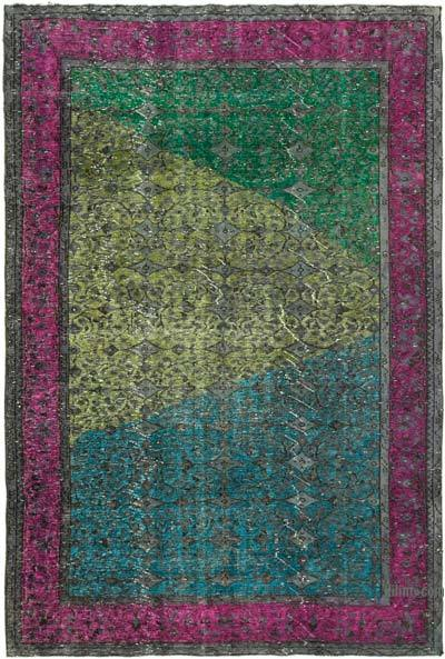 """Hand Carved Over-Dyed Rug - 6' 9"""" x 9' 11"""" (81 in. x 119 in.)"""